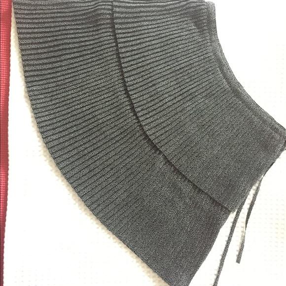 Agnes B. Dresses & Skirts - Agnes b. Black White PolkaDot Pleat Wrap Miniskirt